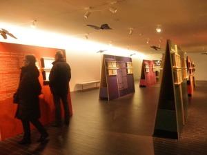 """Sala d'exposicions temporals a la zona ampliada del Museu de """"La Tela""""."""